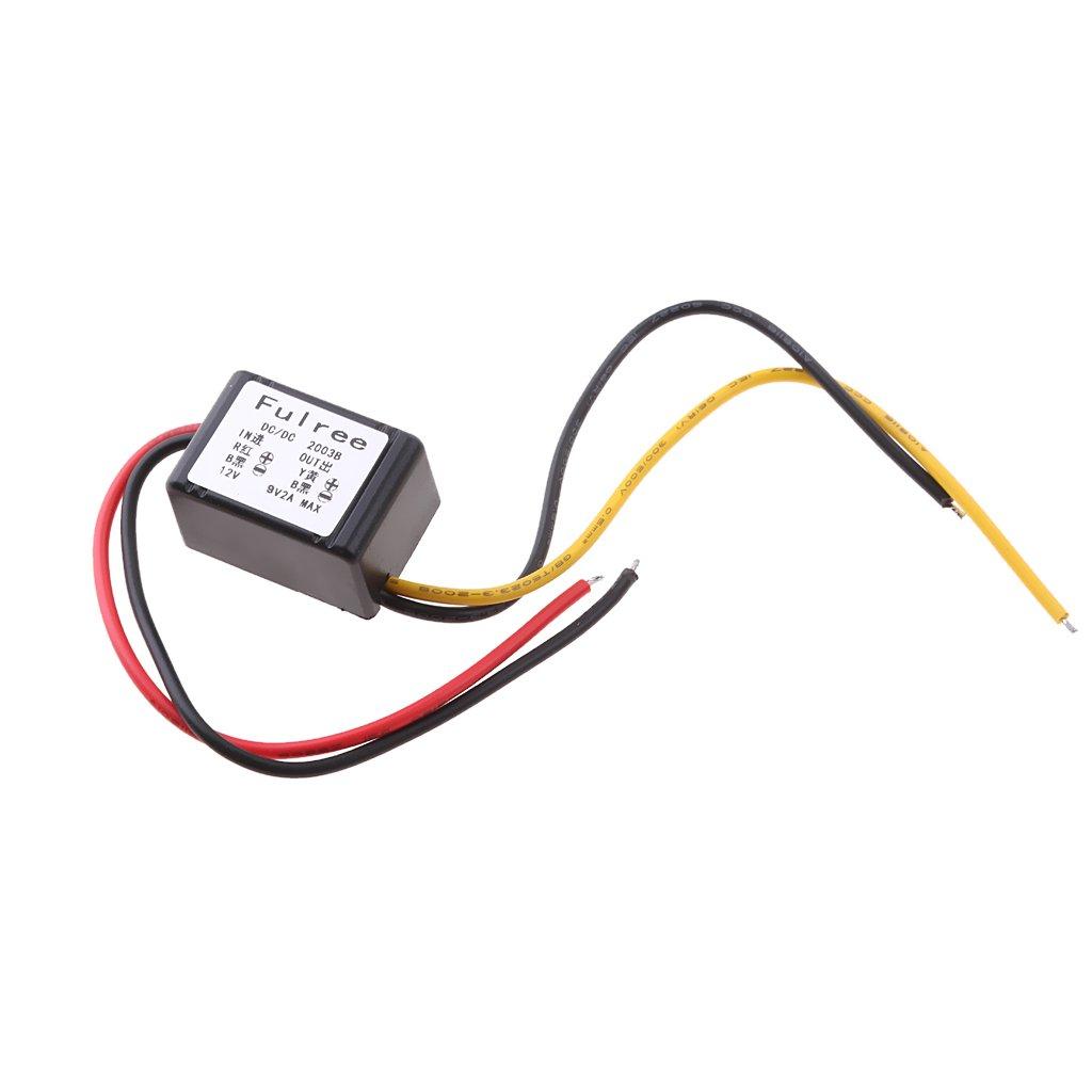 DC-DC Step-down Power Module 12V to 9V 2A Car Power Adapter 12-20V