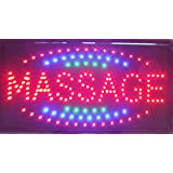 CHENXI Massage Spa shop open sign hot sale 48 X 25 CM indoor ultra bright running care of led (48 X 25 CM, A)