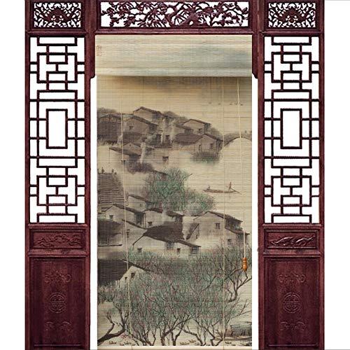 JIANFEI Door Curtain Light Filtering Long Use Time Corridor Decoration,3 Colors, 23 Sizes Customizable (Color : 2#, Size : 150x300cm)