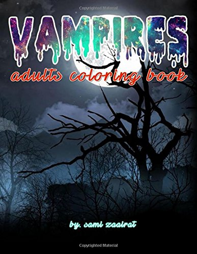 Vampires: adults coloring book