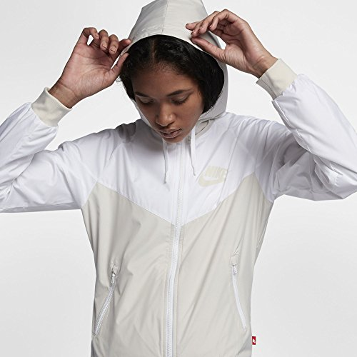 Runner Nike Blanco Wind Chaqueta Nsw Beige W Lluvia Og q4A4Owtx
