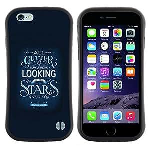 """Pulsar iFace Series Tpu silicona Carcasa Funda Case para Apple iPhone 6 / 6S (4.7 INCH) , Estrellas Inspirar Texto motivación Azul"""""""