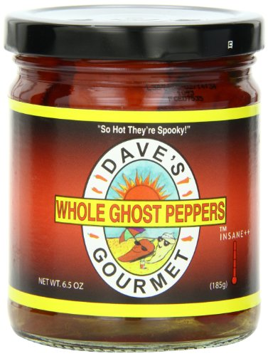 Dave's Gourmet Peppers, Whole Ghost, 6.5 Ounce (Pepper Ghost Fresh)