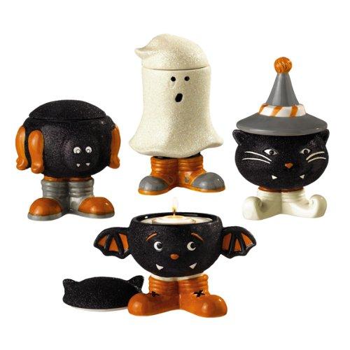 Grasslands Road Monster Mash Halloween Glitter Tealight Holders, Four Styles, Set of 4]()
