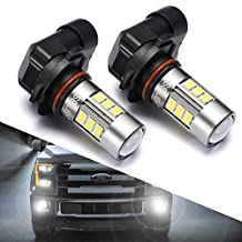 9145/9140/H10/9045/9040 LED Fog Lights Bulbs or DRL, DOT Approved, SEALIGHT Xenon White 6000K, 27 SMD, 2 Yr Warranty (Pack of 2)