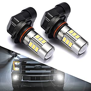 SEALIGHT 9145/9140/H10/9045/9040 LED Fog Lights Bulbs, DOT Approved, Xenon White 6000K, 27 SMD, 2 Yr Warranty (Pack of 2)