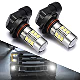 #6: 9145/9140/H10/9045/9040 LED Fog Lights Bulbs or DRL, DOT Approved, SEALIGHT Xenon White 6000K, 27 SMD, 2 Yr Warranty (Pack of 2)