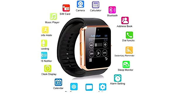 TKSTAR Montre Connectée GT08 Smart Watch Bluetooth: Amazon ...