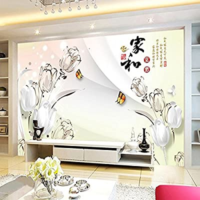 XLi-You 3D TV wall and the rich Chinese tulip paintings living room bedroom wallpaper
