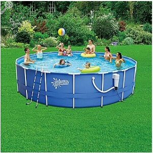 Round Frame Pool 18 39 X 48 With 1500 Gph Skimmerplus Filter Pump Toys Games