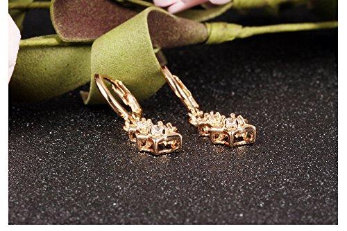 Faysting EU Micro-Pave Boucles d'oreille de diamant portées Madame champagne 3A de Zirconium Boucles hypoallergénique