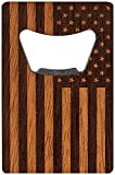 WOODCHUCK American Edition Wood Bottle Opener Credit Card Style-Mahogany For Sale