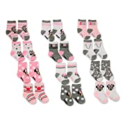 Disney Baby Girls Minnie Mouse Assorted Color Socks Set, 12 Pair,pink, white,0-6M