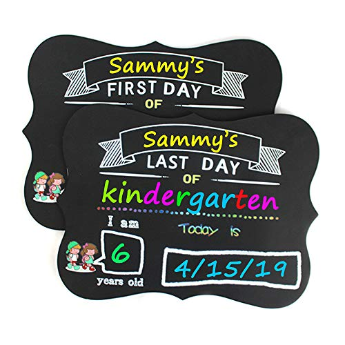 First Day and Last Day School Chalkboard - Back to School Sign 1st Day School Stats Photo Prop (Markers Sold Separately)