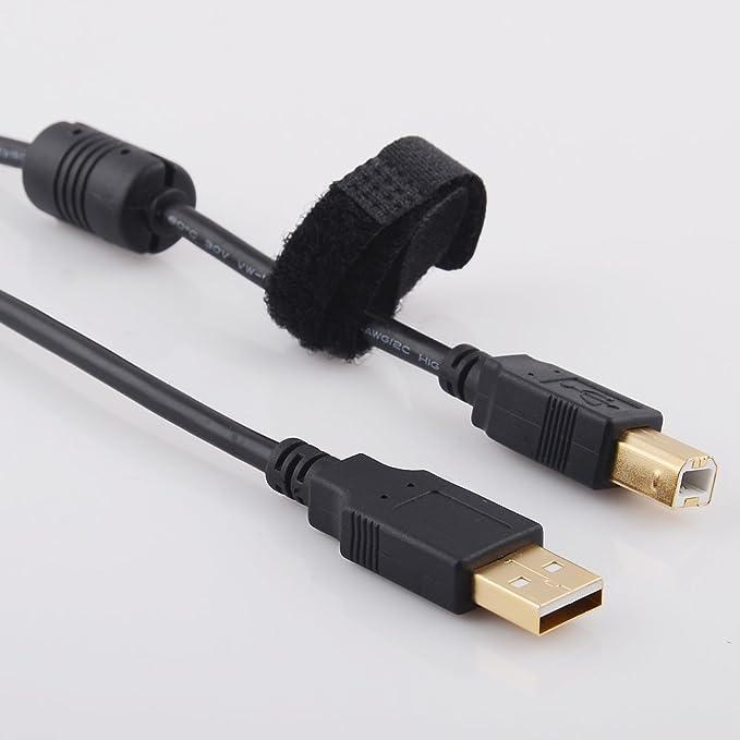Amazon.com: Cable de impresora + 2Prong Power Cord Set para ...