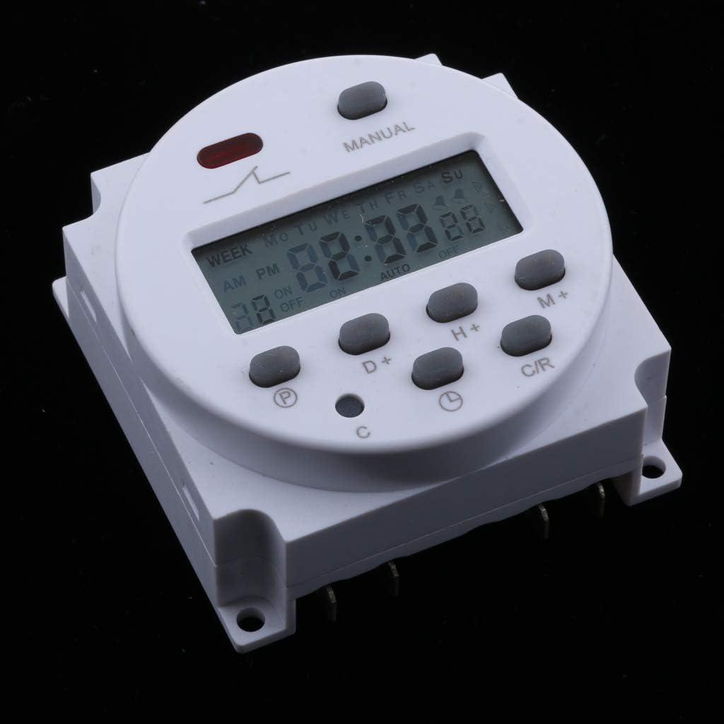 Blanc 12v Sharplace Programmateur Interrupteur Relais Minuteurs Num/érique LCD Temps Hebdomadaire