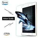 (2-Pack) Apple iPad Pro 12.9 inch Tempered Glass Screen Protector ,SHARKSBox 0.33mm 2.5D Rounded Edge In Shatterproof Packaging