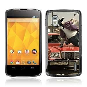 YOYOSHOP [Abstract Cow Jumping] LG Google Nexus 4 Case