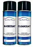 Spectral Paints Compatible/Replacement for Subaru 32J Obsidian Black Pearl 12 oz. Aerosol Spray Paint and Clear Coat
