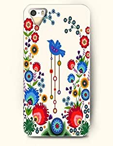 iPhone 5/5S Case, OOFIT Phone Cover Series for Apple iPhone 5 5S Case (DOESN'T FIT iPhone 5C)-- A Bird In The Ocean Of Flowers -- Animal Series