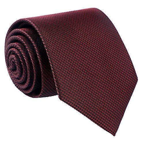 Fortunatever Mens Solid Neckties,Burgundy Red Ties For Men+Gift ()