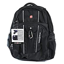 "Swiss Gear - Laptop and Tablet Backpack With USB Cable Integration and Fits Most 17.3"" Laptops - Black"