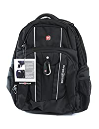 """Swiss Gear - Laptop and Tablet Backpack With USB Cable Integration and Fits Most 17.3"""" Laptops - Black"""