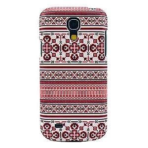 PEACH Snowflake Carpet Pattern Hard Back Cover Case for Samsung Galaxy S4 Mini I9190