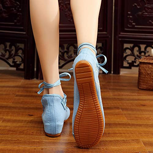 Sandales Bowknot Vintage Femme Style2 Broderie Bozevon Chaussures Pour Plates wURnZZXa