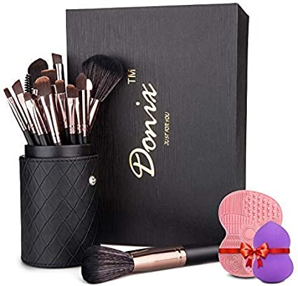 Set de Brochas Maquillaje Profesional 22 Piezas Donix Pinceles Maquillaje de Cerdas de Fibra Sintética Suave: Amazon.es: Belleza