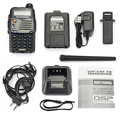 Baofeng UV5RA Ham Two Way Radio 136 174/400 480 MHz Dual Band Transceiver (Black)