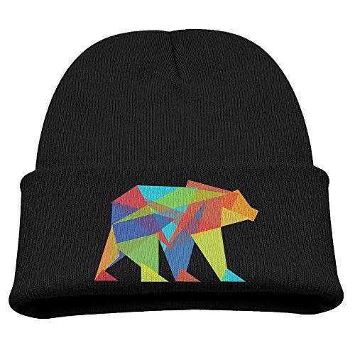 Obachi Mountain Bear Unisex Slouchy Beanie Black]()