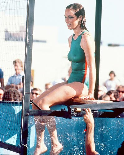 25aa7d1b80 Image Unavailable. Image not available for. Color  Catherine Bach in  Swimsuit By Pool 8x10 HD Aluminum Wall Art
