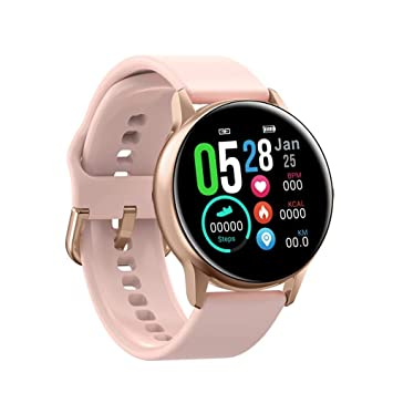 MROSW Smart Watch Round Touch Screen Smartwatch Heart Rate ...