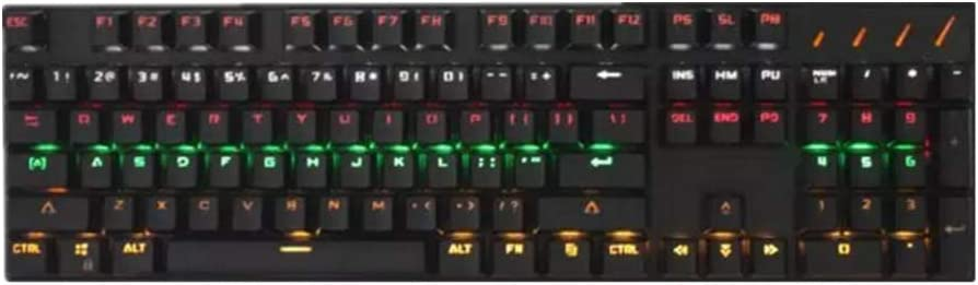Bjzxz Illuminated Gaming Keyboard Wired Laptop USB Mechanical Feel Keyboard Professional Gaming Keyboard