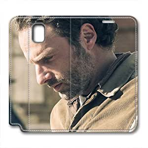 JHFHGVH Case for Samsung galaxy Note 3 Leather, The Walking Dead Rick Stylish Durable Case for Samsung galaxy Note 3 Leather