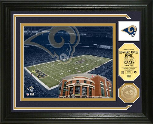 St. Louis Rams Single Coin Stadium Photo Mint by Highland Mint