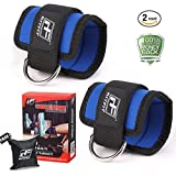 RitFit Ankle Strap for Cable Machines for Butt and Leg Weights Exercises (BLUE)