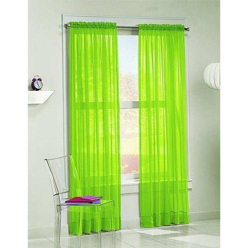 2 Piece Beautiful Sheer Window Green Elegance Curtains/drape/panels/treatment 60