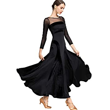 Vestidos de Danza Moderna de Terciopelo Manga Larga Moda Costura ...