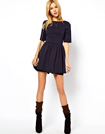 df34a77c1e ASOS Skater Dress With Peplum Skirt Sizes 6