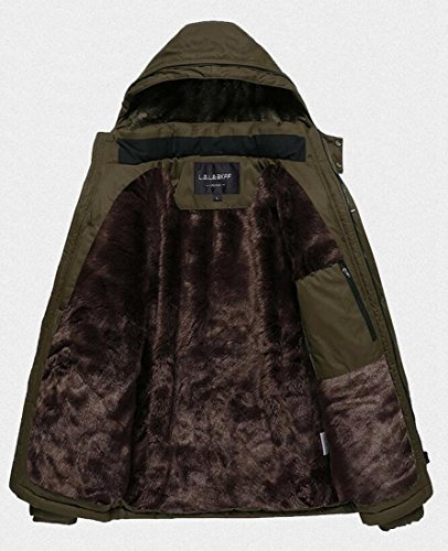 Fleece 3 Outwear Lined Men's Down Warm Coats today Hooded Winter Thicken UK PHwxqY