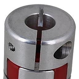 CNBTR 10x12.7mm Stepper Motors Absorb Vibration Aluminum CNC Plum Coupling