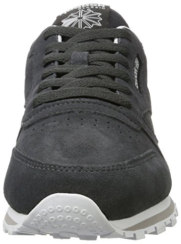 Reebok Classic Leather Mh - Tobillo bajo Mujer Gris (Coal/white)