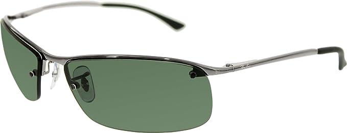 4e1d9faf275 ... ebay ray ban rb3183 sunglasses 63 mm 63 mm gunmetal frame green classic  7a6e0 d2c37