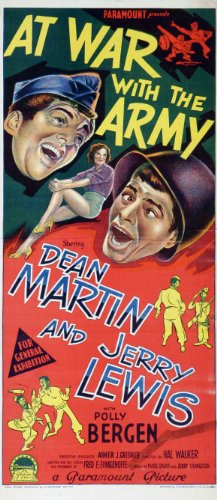 At War With the Army Movie Poster (13 x 30 Inches - 34cm x 77cm) (1950) Australian -(Dean Martin)(Jerry Lewis)(Polly Bergen)(Mike Kellin)