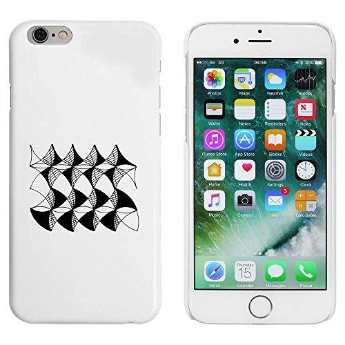 Blanc 'Arrière-Plan à Motifs' étui / housse pour iPhone 6 & 6s (MC00004446)