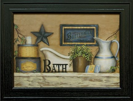 (Buttermilk Soap Bath Framed Print - Country Picture Art 15