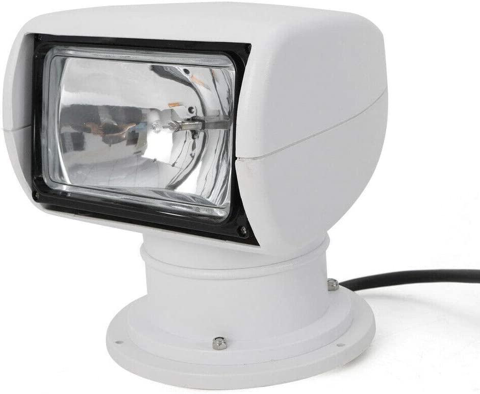 CNCEST Boat Spotlights 100W Marine Remote Control Halogen Searchlight Offroad Truck Car Boat Spotlight Searchlight Bulb Flux 2500LM 12V US Stock : Sports & Outdoors