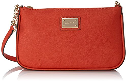 Calvin Klein 2 QM Saffiano Demi Shoulder Bag Burnt Orange One Size